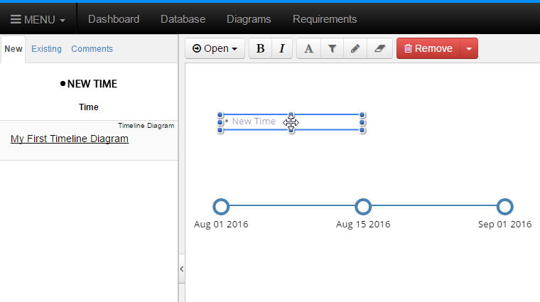 Drag New Event