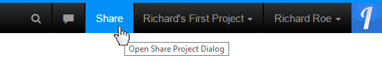 Share Project Button