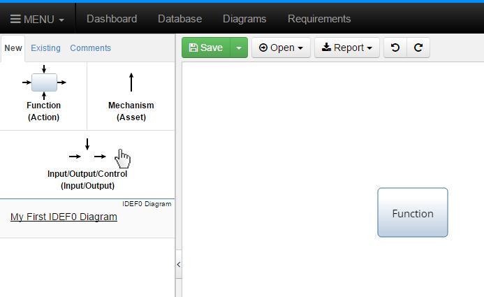 Click New Input/Output/Control