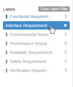 Filter by Interface Requirement Label