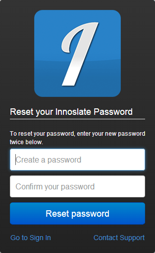 Reset Password Dialog