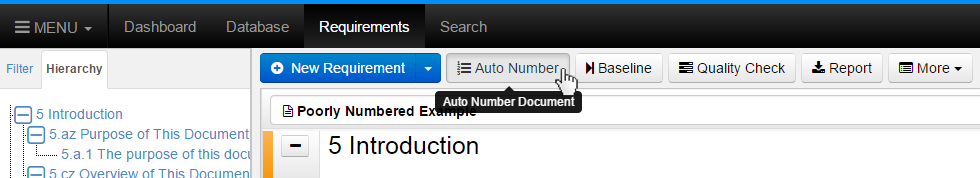 Click Auto Number Button
