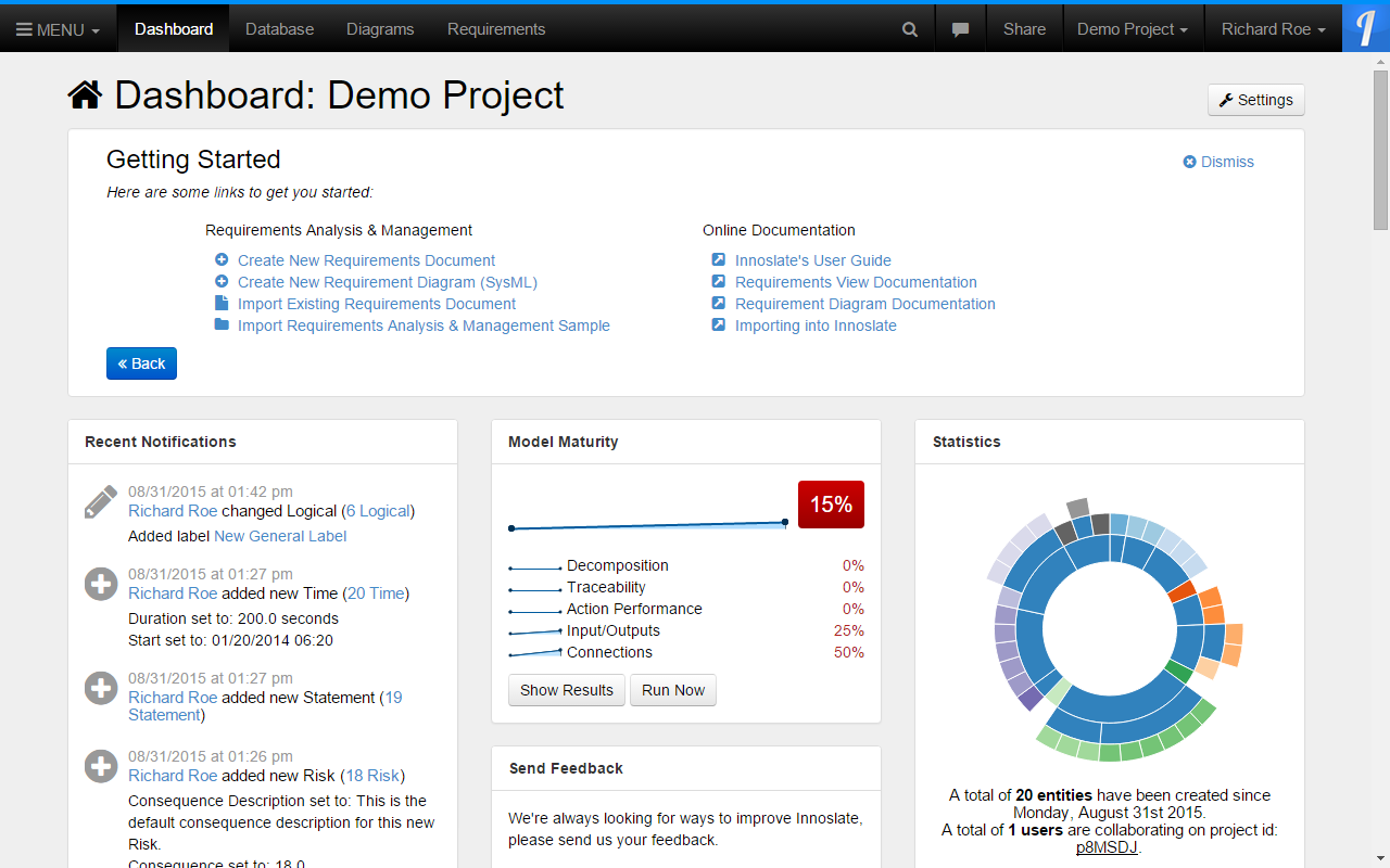 Project Dashboard Example