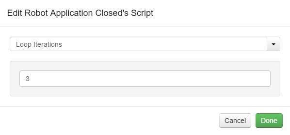 Edit Script Loop Iterations Option