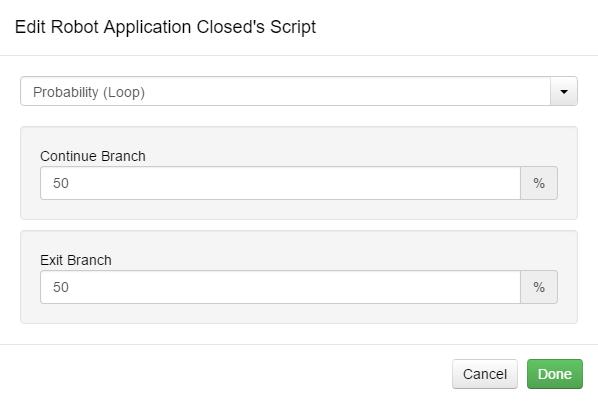Edit Script Probability (Loop) Option