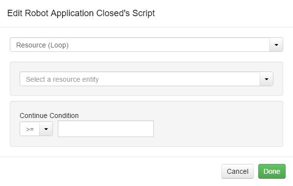 Edit Script Resource (Loop) Option