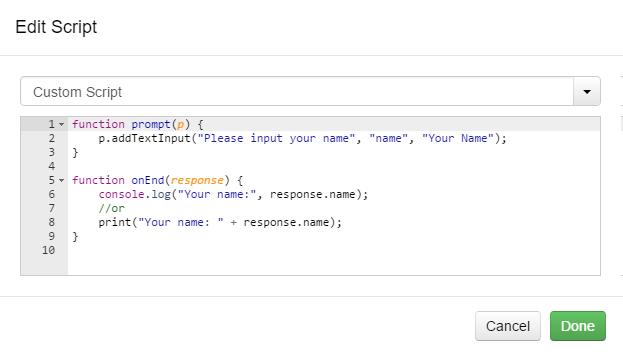 Edit Script Prompt Example