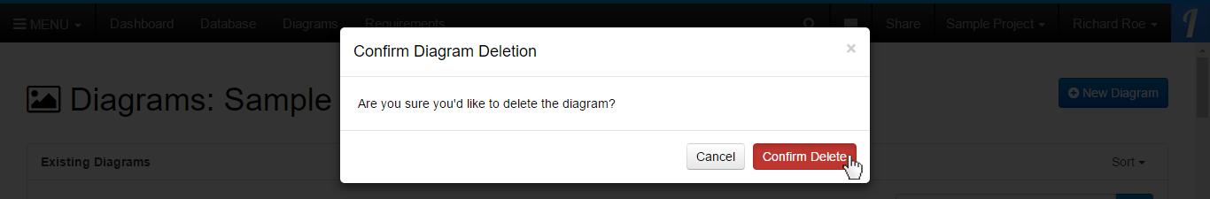 Click the Confirm Delete Button