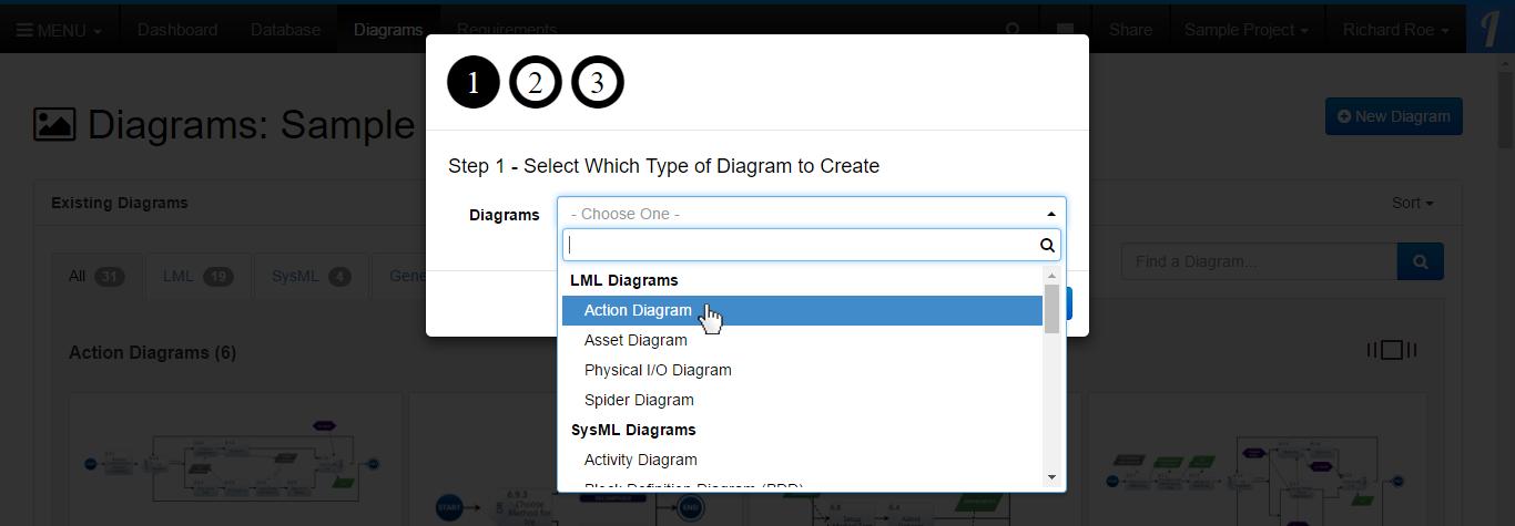 Select Diagram Type