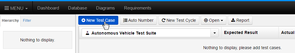 Click the New Test Case Button