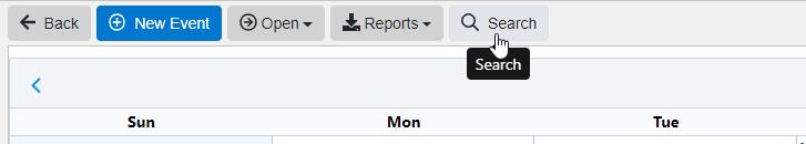 Calendar Search Button