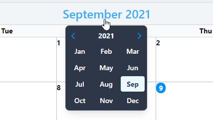 Calendar Navigation Date Picker