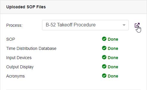 Uploaded SOP Files Widget Navigate to Process